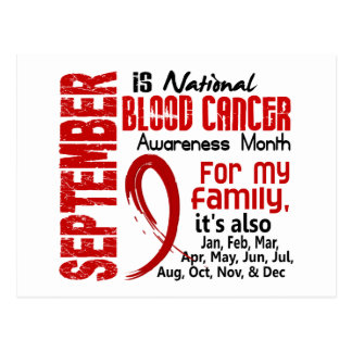 Blood Cancer Awareness Month For My Family Postcard