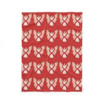 Blood Cancer Awareness Red Ribbon Fleece Blanket
