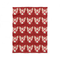 Blood Cancer Awareness Red Ribbon Fleece Blankets