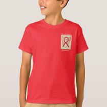 Blood Cancer Awareness Ribbon Angel Art Shirt