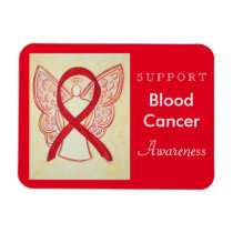 Blood Cancer Awareness Ribbon Angel Custom Magnet