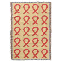 Blood Cancer Awareness Ribbon Art Throw Blankets