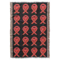 Blood Cancer Awareness Ribbon Art Throw Blankets