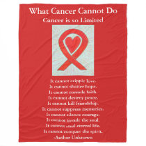 Blood Cancer Awareness Ribbon Fleece Blankets