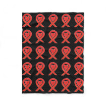 Blood Cancer Awareness Ribbon Soft Fleece Blanket