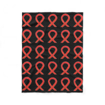 Blood Cancer Awareness Ribbon Soft Fleece Blankets