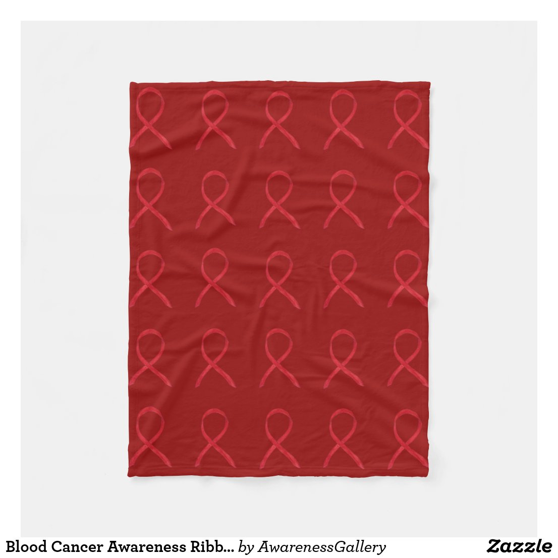Blood Cancer Awareness Ribbon Soft Fleece Blankets
