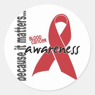 Blood Cancer Awareness Round Sticker