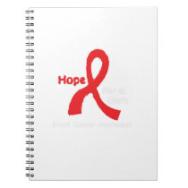 Blood Cancer Awareness Support Notebook