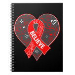 Blood Cancer Believe Ribbon Heart Note Book