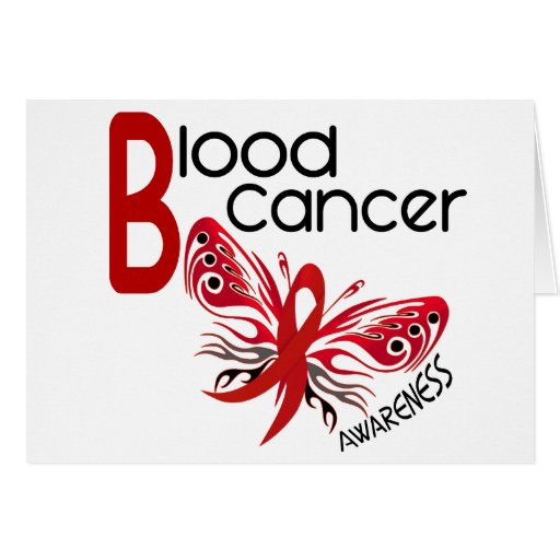 Blood Cancer BUTTERFLY 3.1 Greeting Card