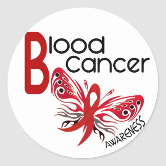 Blood Cancer BUTTERFLY 3.1 Stickers