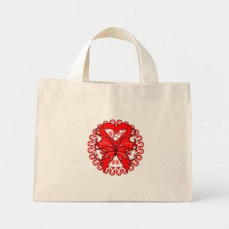 Blood Cancer Butterfly Circle of Ribbons Bag