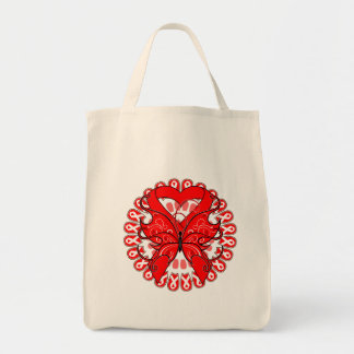 Blood Cancer Butterfly Circle of Ribbons Canvas Bag