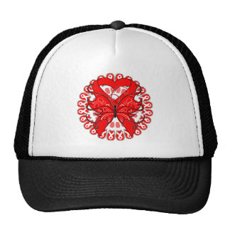 Blood Cancer Butterfly Circle of Ribbons Trucker Hat