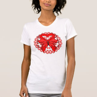 Blood Cancer Butterfly Circle of Ribbons T-shirts