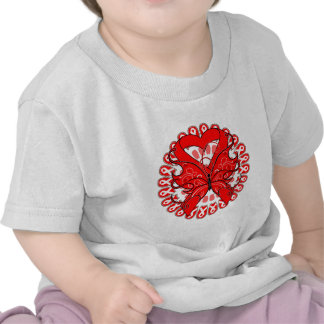 Blood Cancer Butterfly Circle of Ribbons Tee Shirt