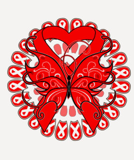 Blood Cancer Butterfly Circle of Ribbons Tees