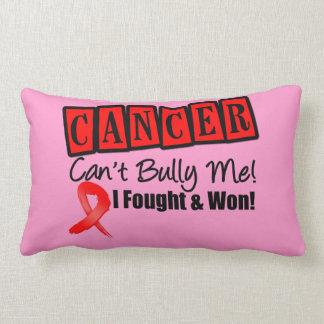 Blood Cancer Can't Bully Me...I Fought I Won Throw Pillow