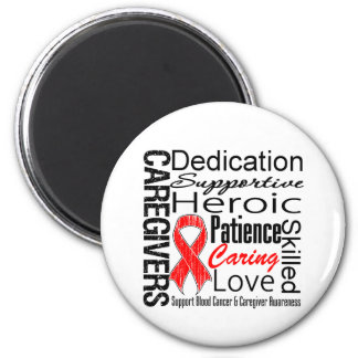 Blood Cancer Caregivers Collage 2 Inch Round Magnet