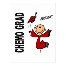 Blood Cancer CHEMO GRAD 1 Postcard