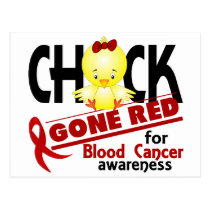 Blood Cancer Chick Gone Red 2 Postcard