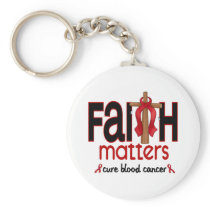 Blood Cancer Faith Matters Cross 1 Keychain