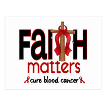 Blood Cancer Faith Matters Cross 1 Postcard