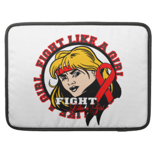 Blood Cancer Fight Like A Girl Attitude MacBook Pro Sleeve
