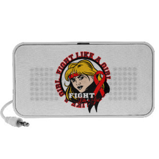 Blood Cancer Fight Like A Girl Attitude iPhone Speaker