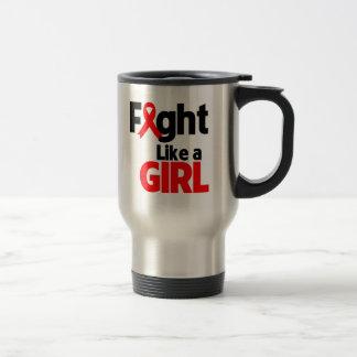 Blood Cancer Fight Like a Girl Coffee Mug