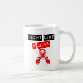 Blood Cancer Fight Like A Girl Coffee Mugs