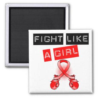 Blood Cancer Fight Like A Girl Fridge Magnet