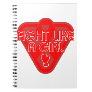 Blood Cancer Fight Like A Girl Glove Note Book