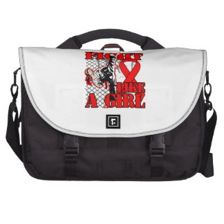 Blood Cancer Fight Like A Girl Kick Bag For Laptop