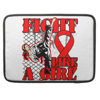Blood Cancer Fight Like A Girl Kick MacBook Pro Sleeves
