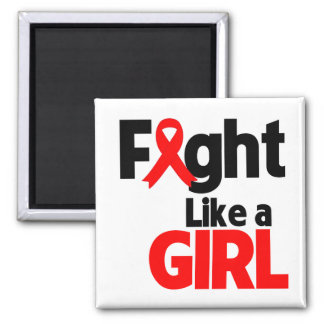Blood Cancer Fight Like a Girl Magnet