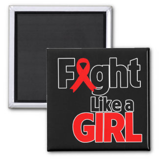 Blood Cancer Fight Like a Girl Magnets