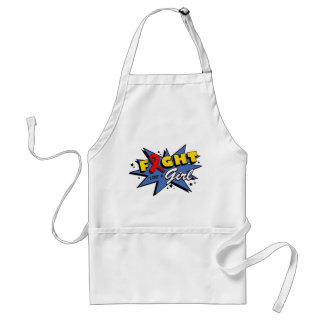 Blood Cancer Fight Like A Girl POW! Adult Apron