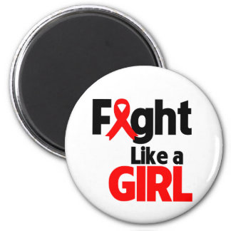 Blood Cancer Fight Like a Girl Refrigerator Magnet