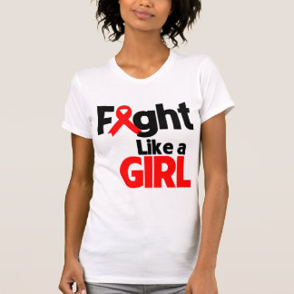 Blood Cancer Fight Like a Girl Shirts
