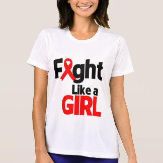 Blood Cancer Fight Like a Girl T Shirt