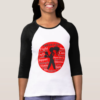 Blood Cancer Fight Like A Girl Warrior Collage Tshirts