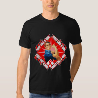 Blood Cancer Fight Rosie The Riveter Tee Shirt