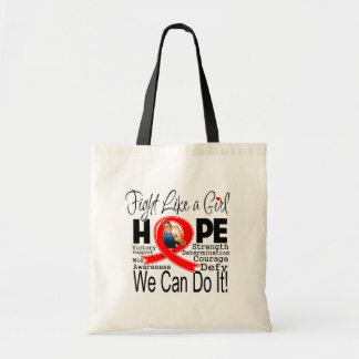 Blood Cancer Fight We Can Do It Canvas Bags