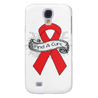 Blood Cancer Find A Cure Ribbon Samsung Galaxy S4 Case