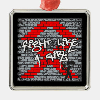 Blood Cancer Graffiti Wall Fight Like A Girl Ornament