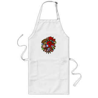 Blood Cancer Groovy Fight Like A Girl Aprons