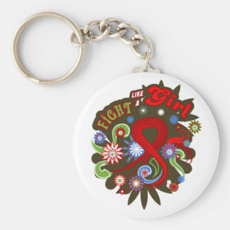 Blood Cancer Groovy Fight Like A Girl Key Chain