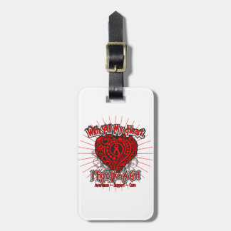 Blood Cancer Heart I Fight Like A Girl Tags For Luggage